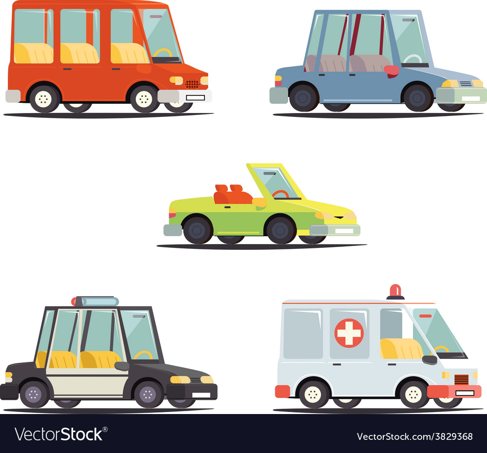 Cartoon transport car vehicle icon design stylish vector | Price: 3 Credit (USD $3)