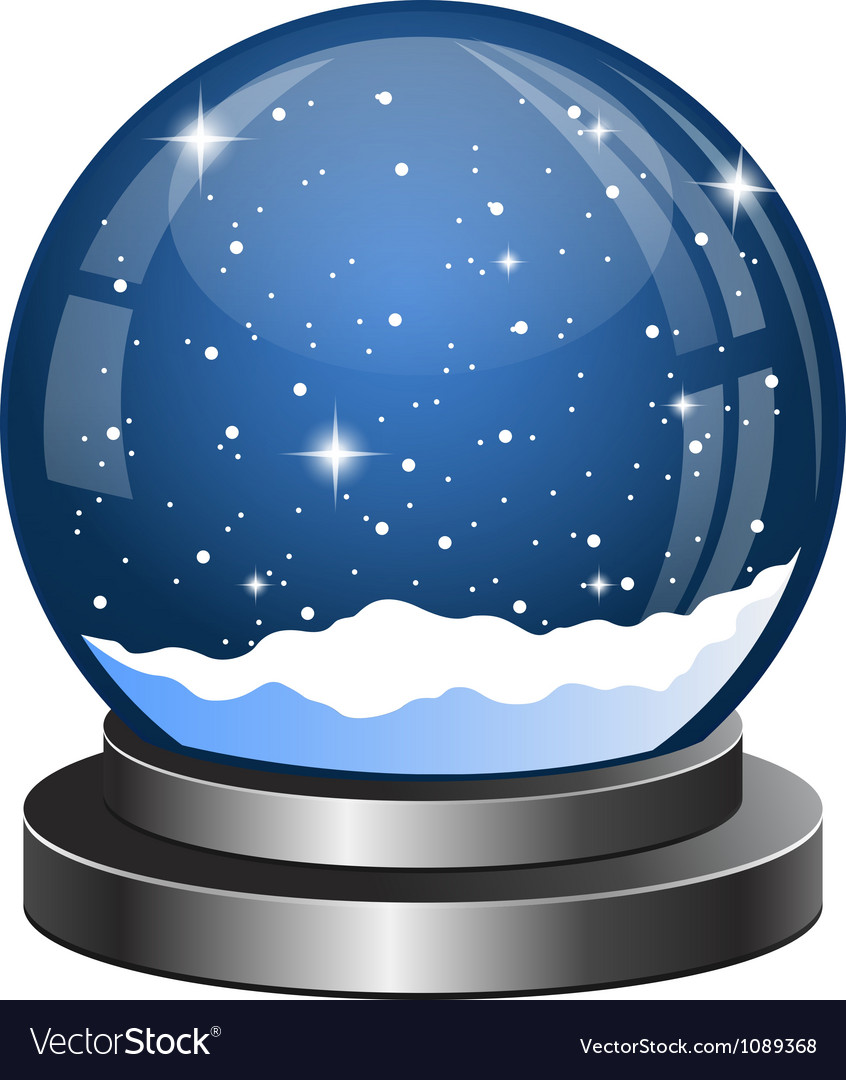 Christmas snow globe with the falling snow vector | Price: 1 Credit (USD $1)