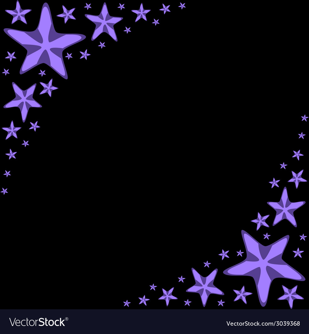 Decorative frame with violet cartoon starfishes on vector | Price: 1 Credit (USD $1)