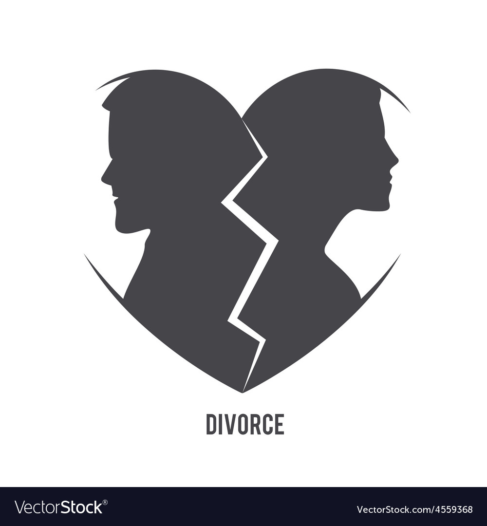 Divorce visual concept vector | Price: 1 Credit (USD $1)