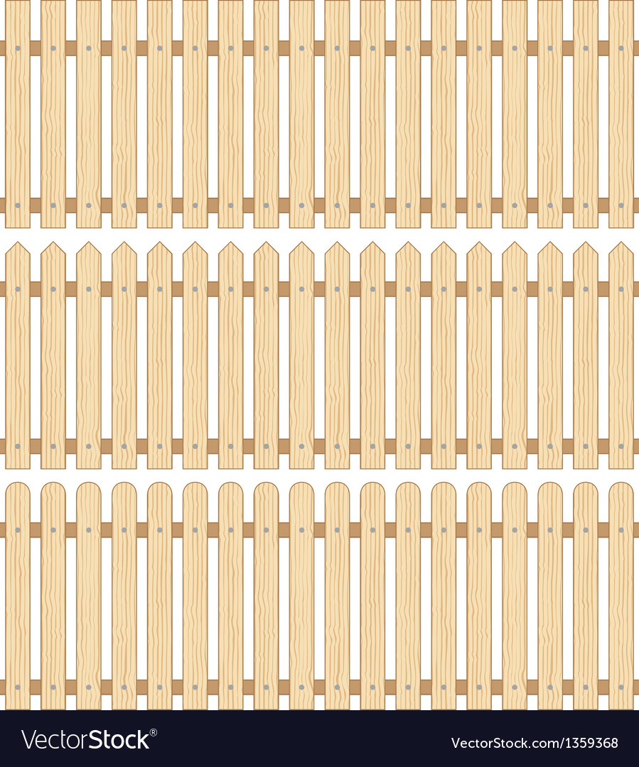 Set of three wooden fences vector | Price: 1 Credit (USD $1)