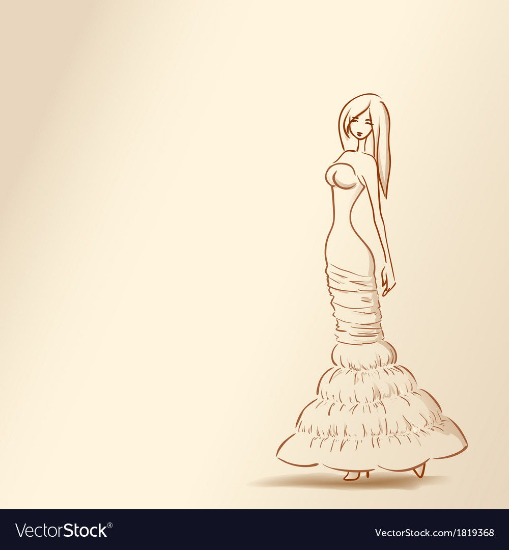 Silhouette of woman in pastel tones04 vector | Price: 1 Credit (USD $1)
