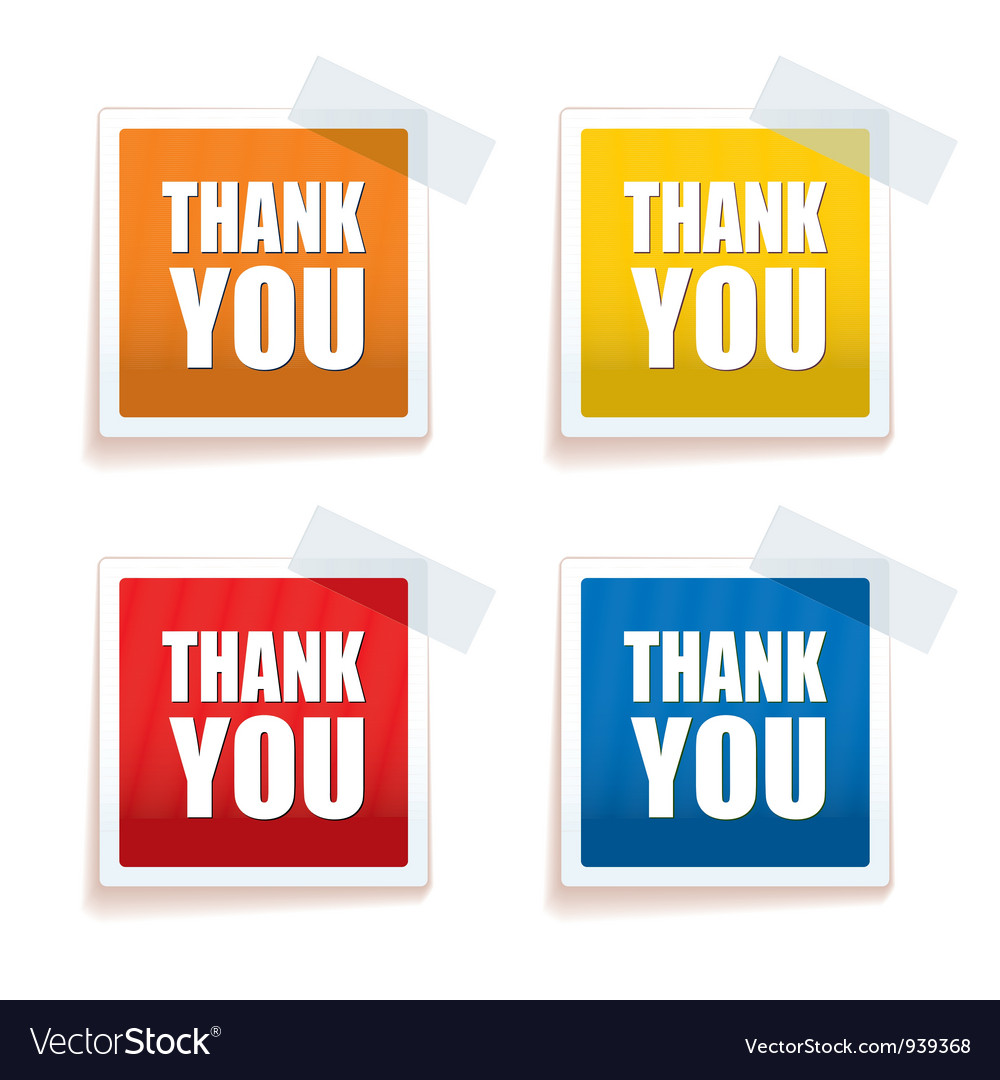 Thank you tag colour vector | Price: 1 Credit (USD $1)