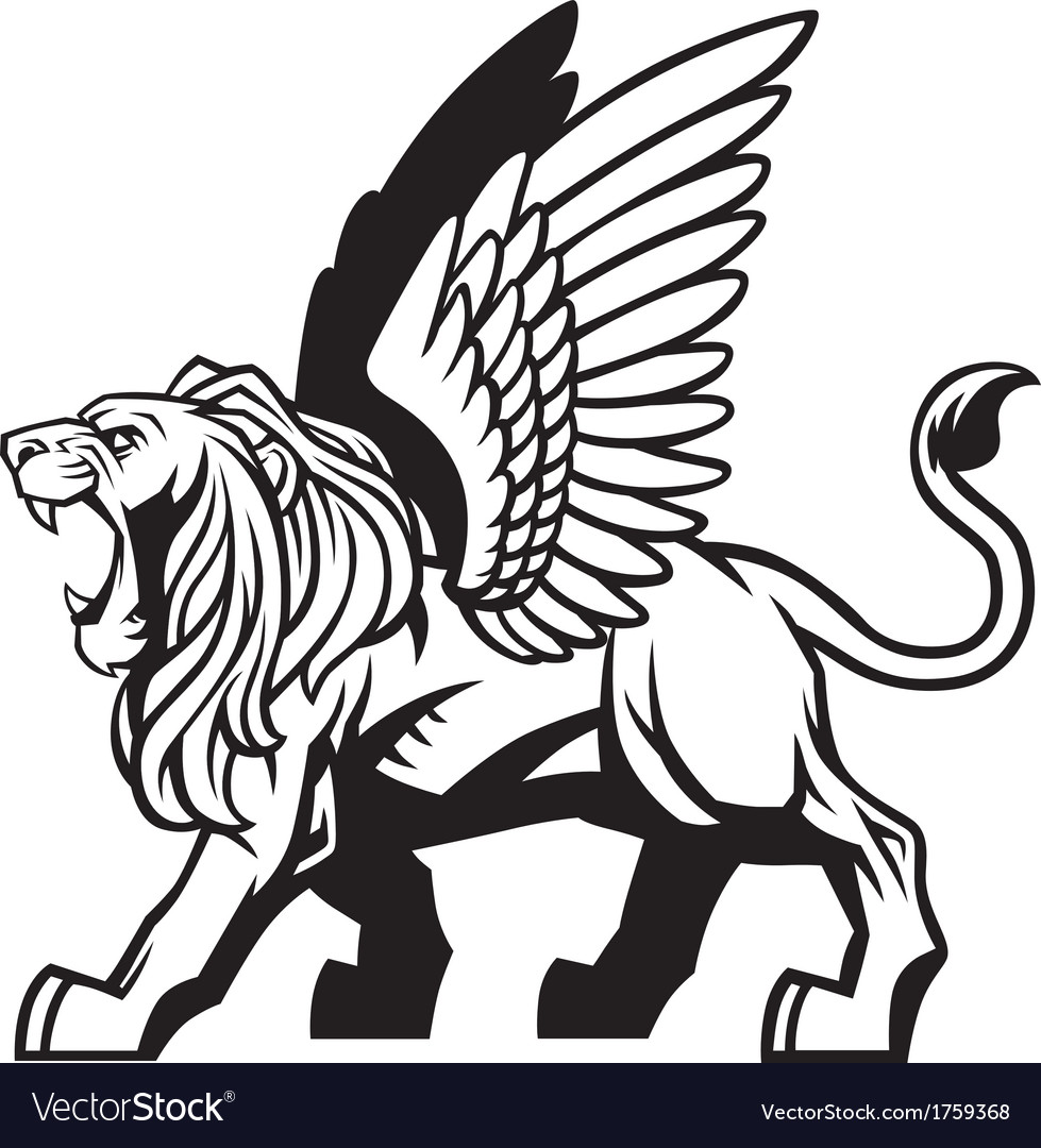 Winged lion vector | Price: 1 Credit (USD $1)