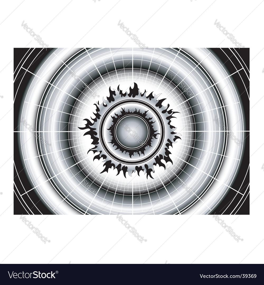 Black sun on white grid vector   Price: 1 Credit (USD $1)