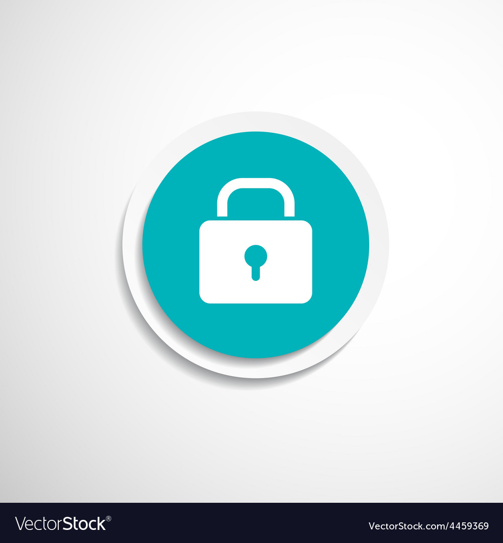 Blue lock icon with protection key password vector | Price: 1 Credit (USD $1)