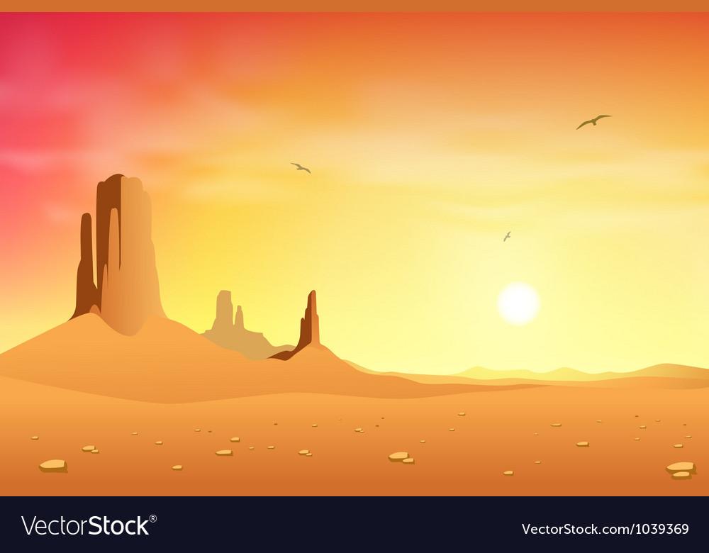 Desert landscape vector | Price: 1 Credit (USD $1)