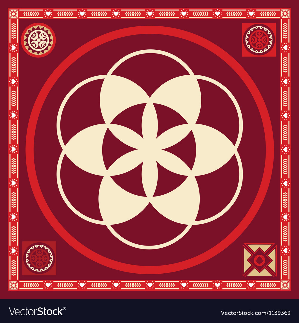 Flower of life seed spring poster vector | Price: 1 Credit (USD $1)
