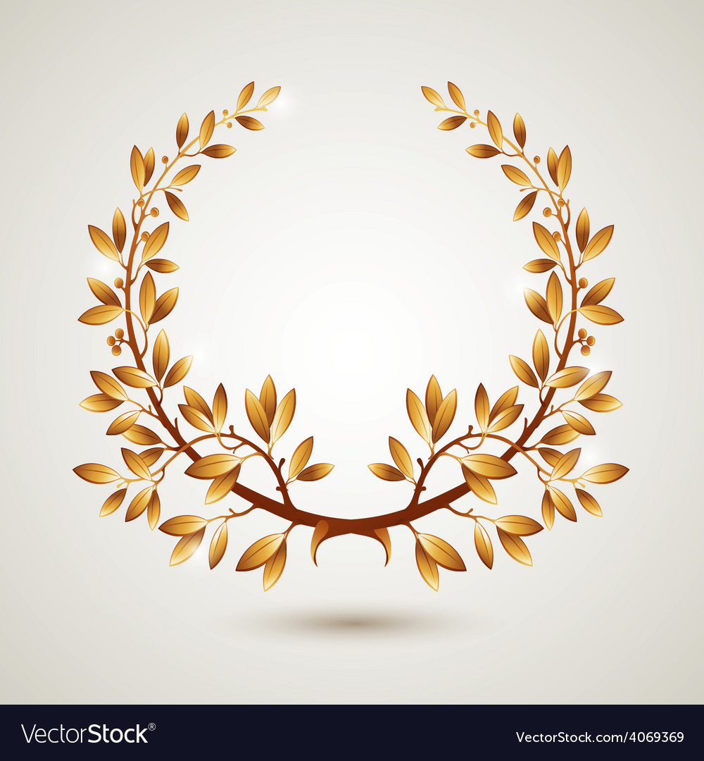 Gold laurel vector | Price: 1 Credit (USD $1)