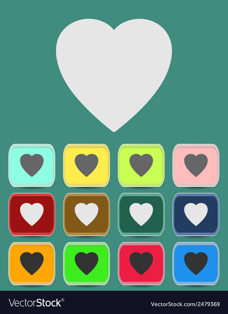 Human heart icons or symbols for love vector | Price: 1 Credit (USD $1)