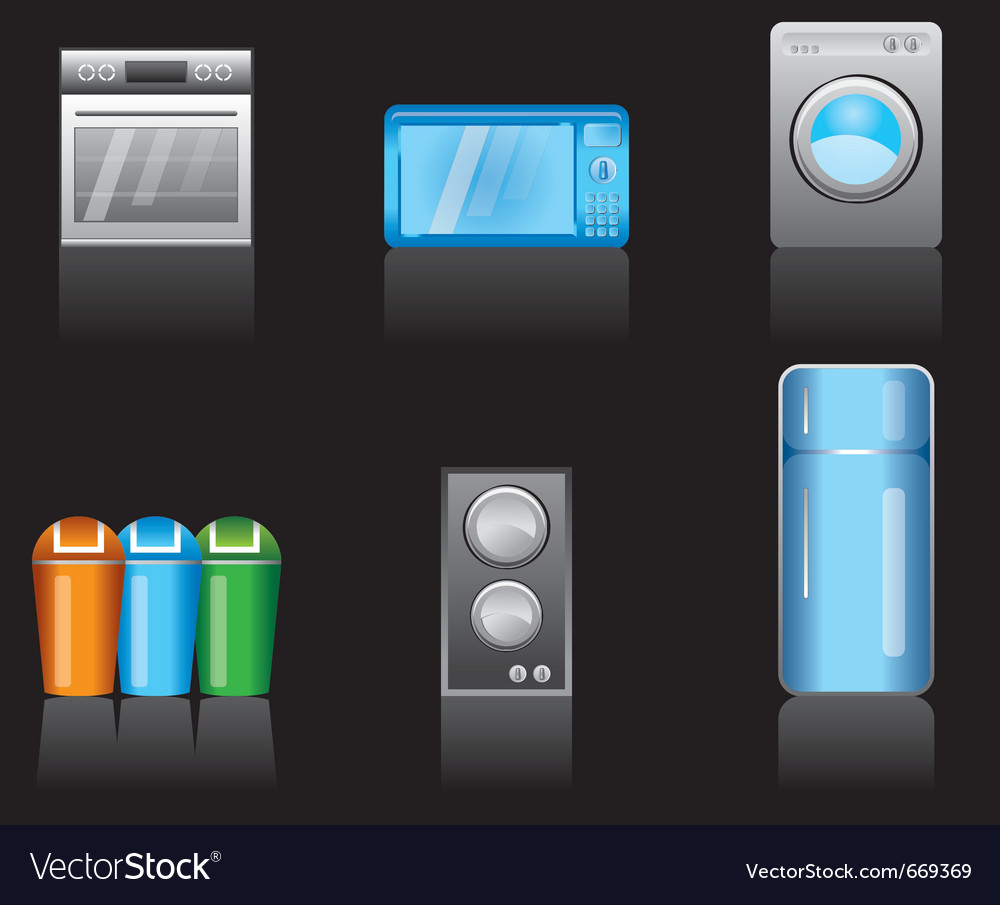 Kitchen equipment icons vector | Price: 1 Credit (USD $1)