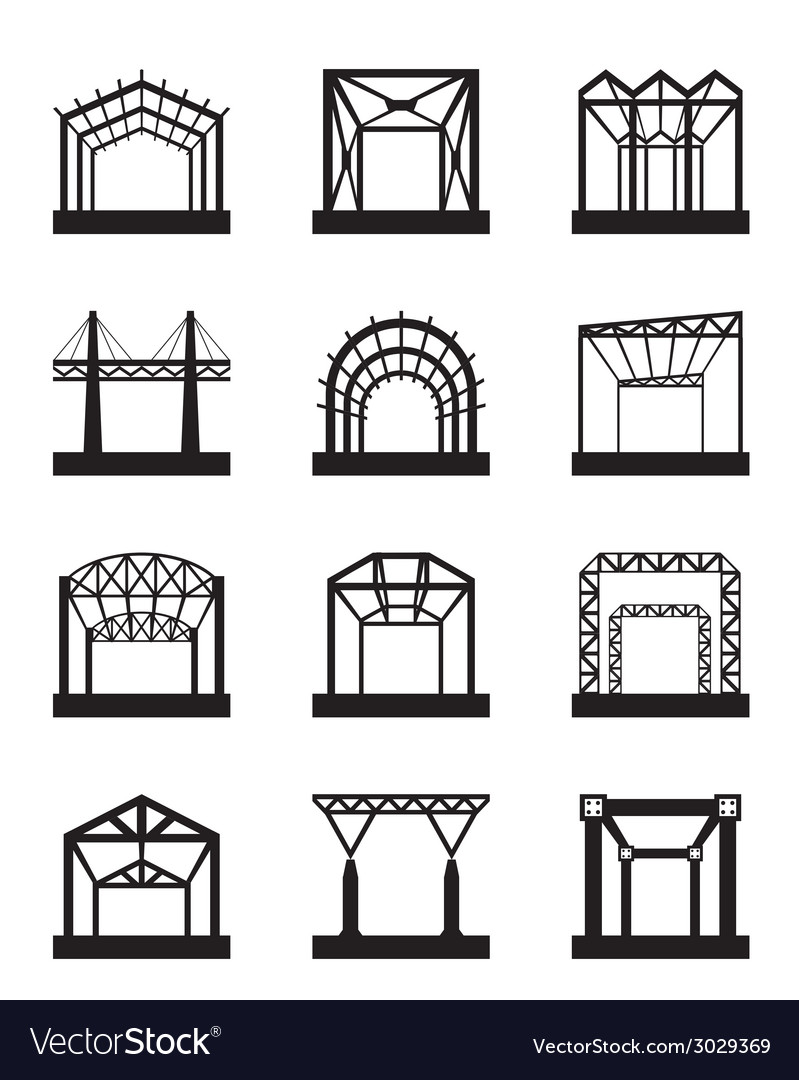 Metal structures icon set vector | Price: 1 Credit (USD $1)
