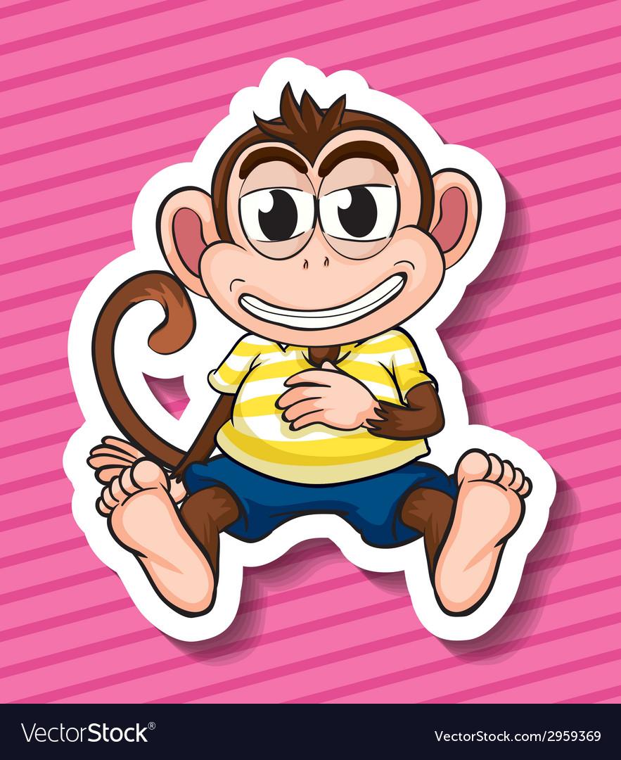 Monkey vector | Price: 1 Credit (USD $1)
