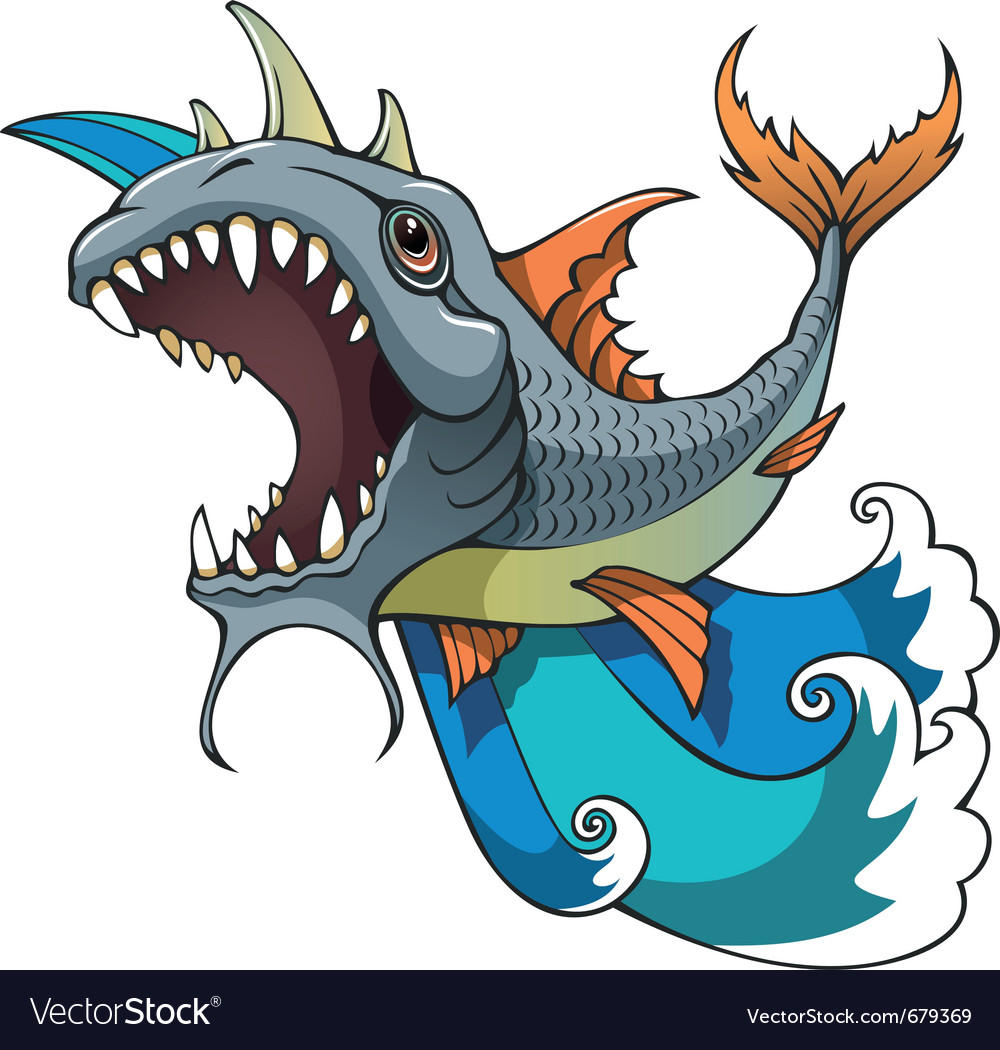 Monster fish vector | Price: 3 Credit (USD $3)