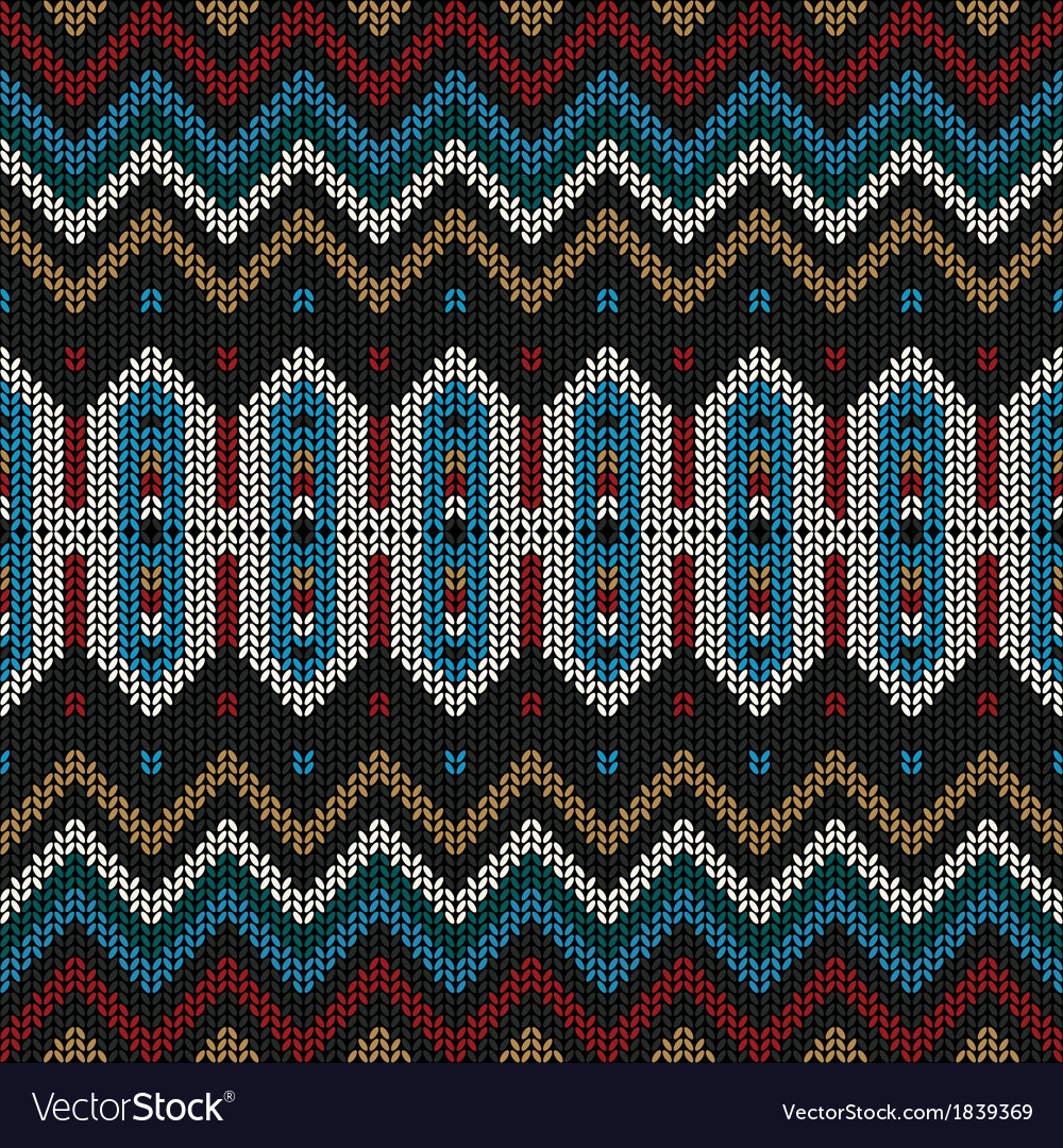 Ornamental knitted pattern vector | Price: 1 Credit (USD $1)
