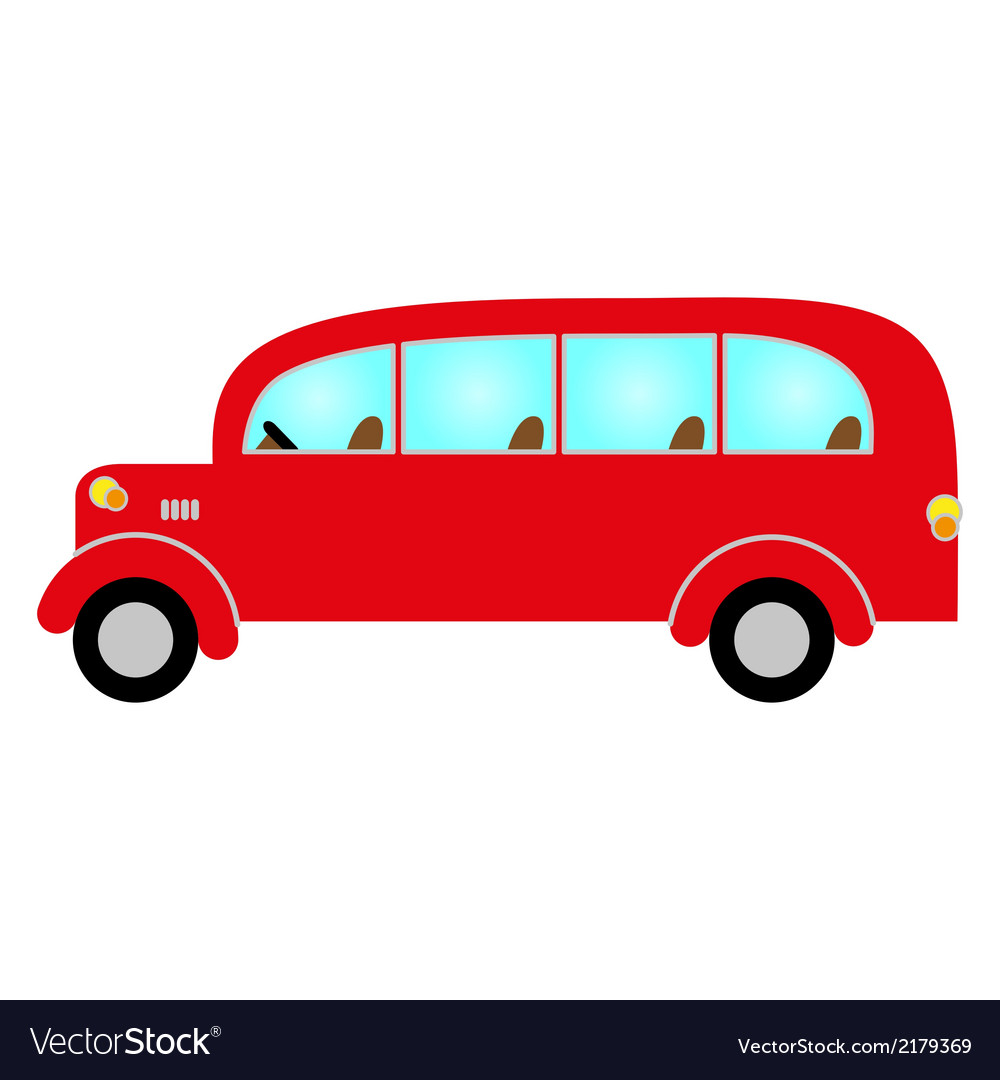 Red bus vector | Price: 1 Credit (USD $1)