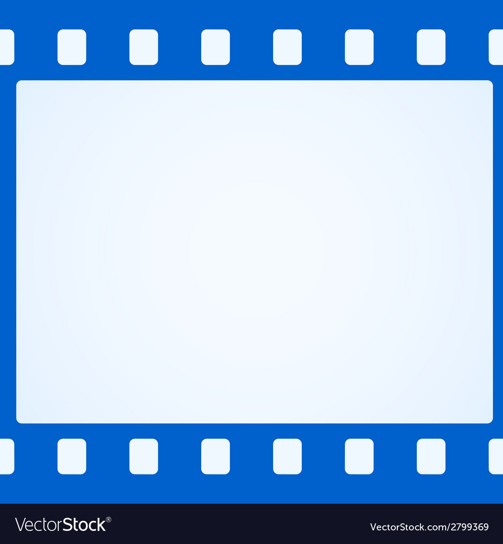 Simple blue film strip background vector | Price: 1 Credit (USD $1)