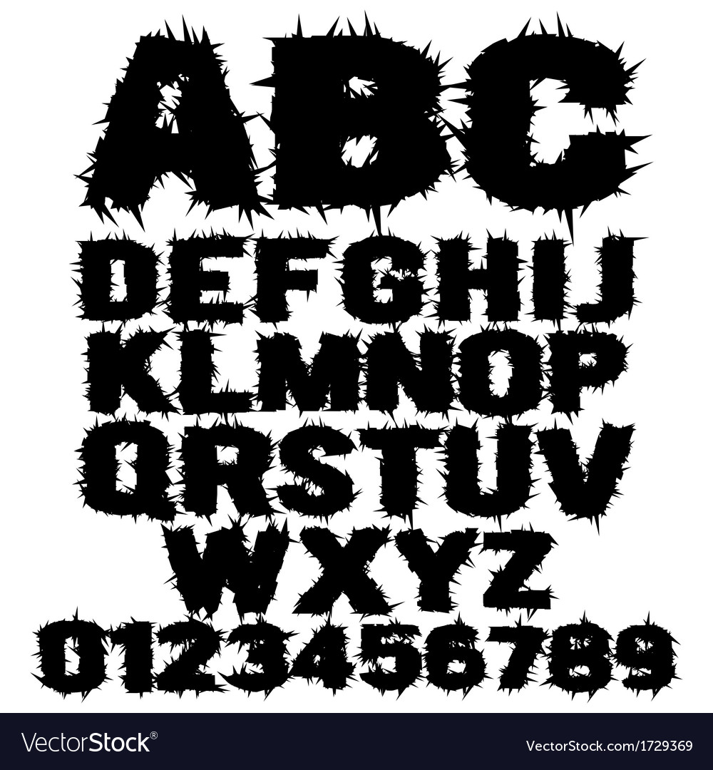 Studded grunge scary alphabet vector | Price: 1 Credit (USD $1)