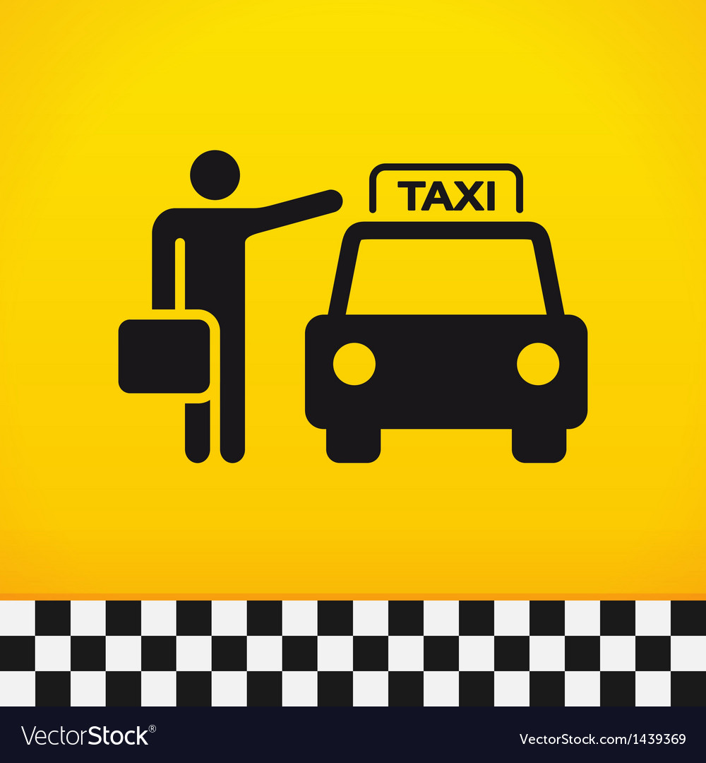 Taxi theme with passenger vector | Price: 1 Credit (USD $1)