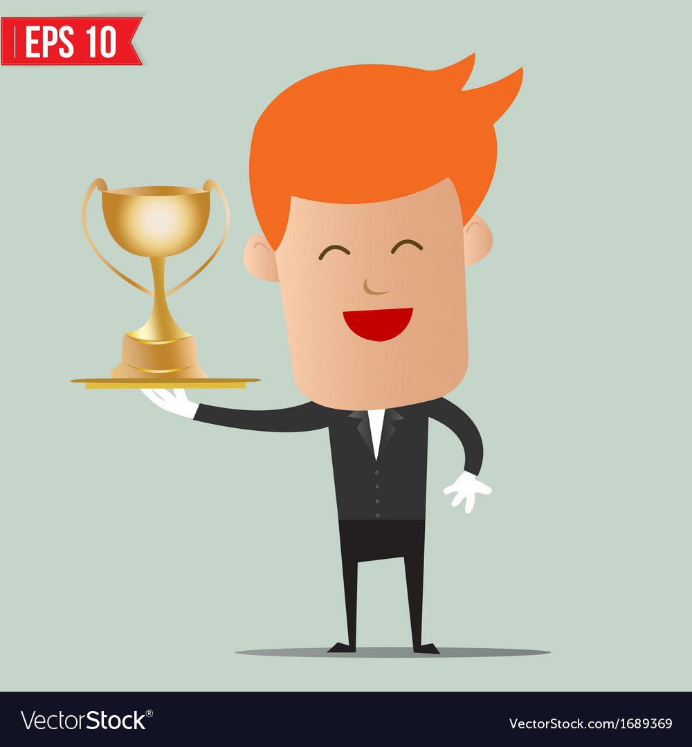 Waiter serve winner champion cup - - eps10 vector | Price: 1 Credit (USD $1)
