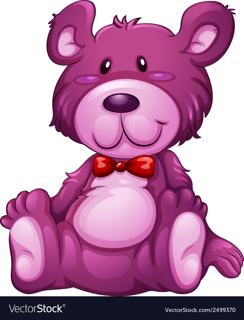 A lavender teddy bear vector | Price: 1 Credit (USD $1)