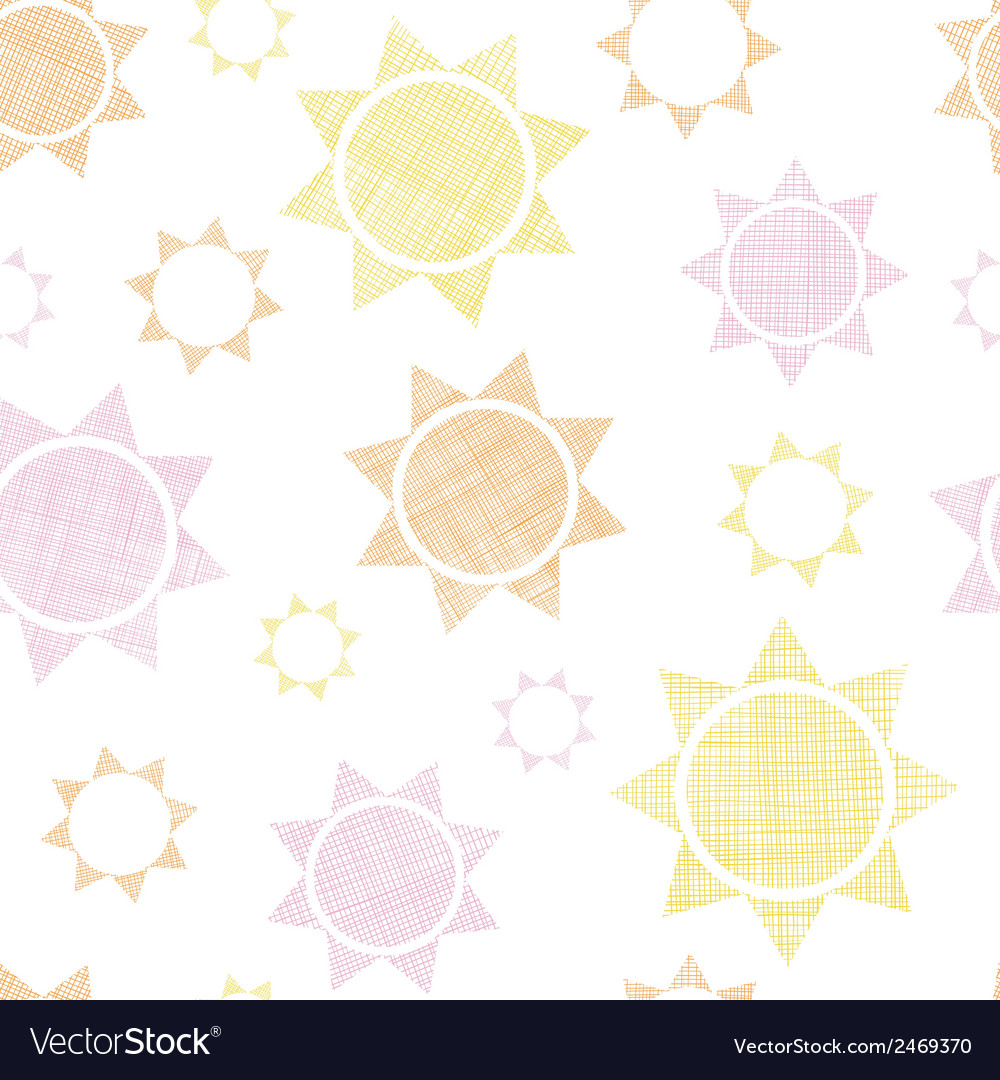Abstract textile colroful suns geometric seamless vector | Price: 1 Credit (USD $1)