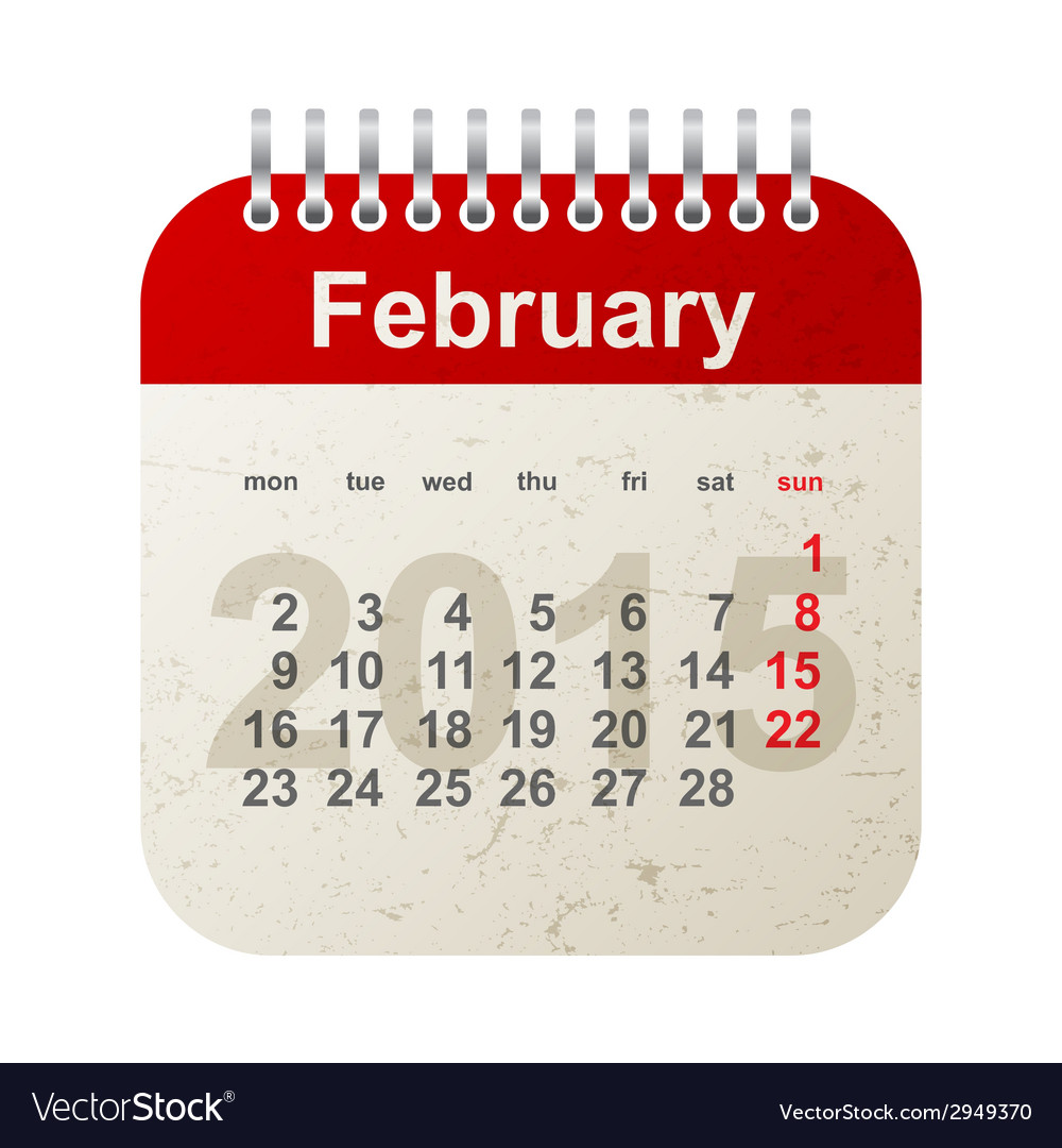 Calendar 2015 - february vector | Price: 1 Credit (USD $1)