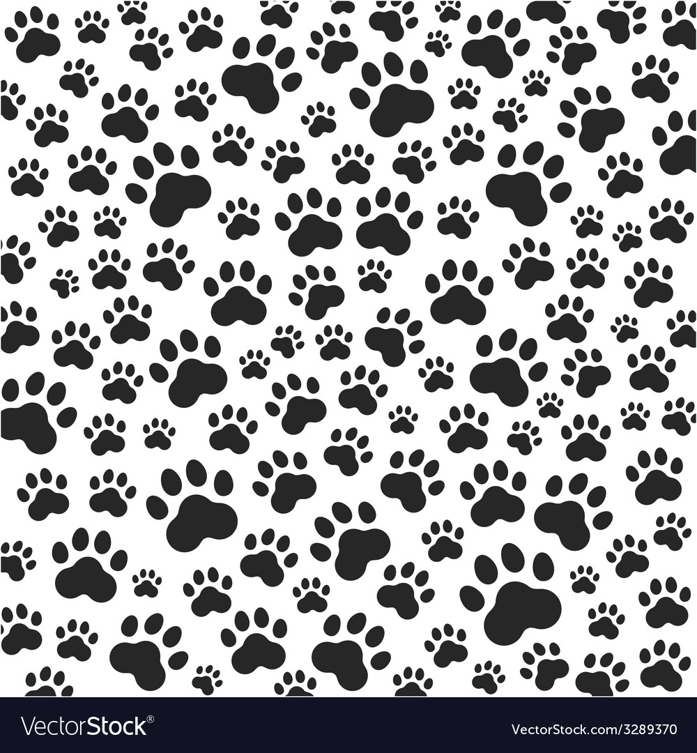 Cat or dog paws background vector | Price: 1 Credit (USD $1)