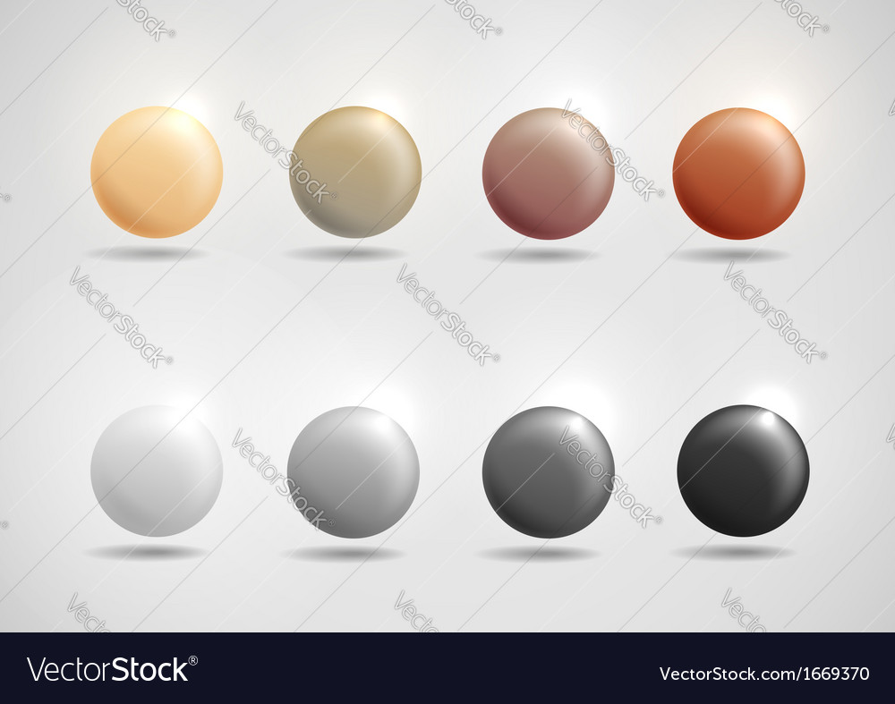 Colorful round buttons vector | Price: 1 Credit (USD $1)