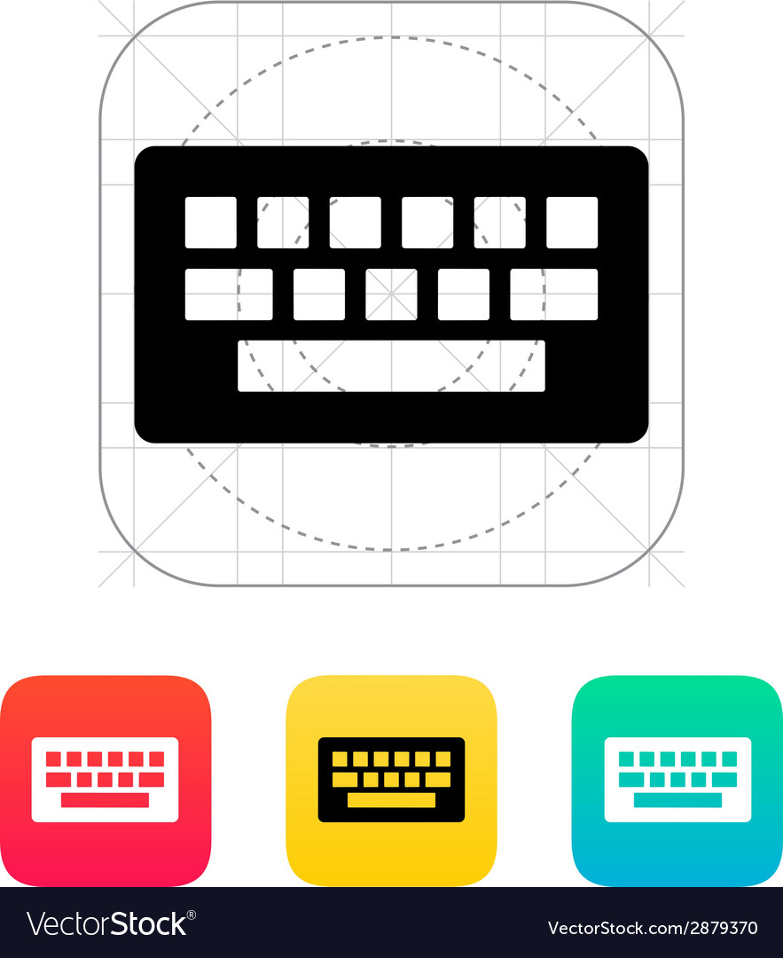 Computer keyboard icon vector | Price: 1 Credit (USD $1)