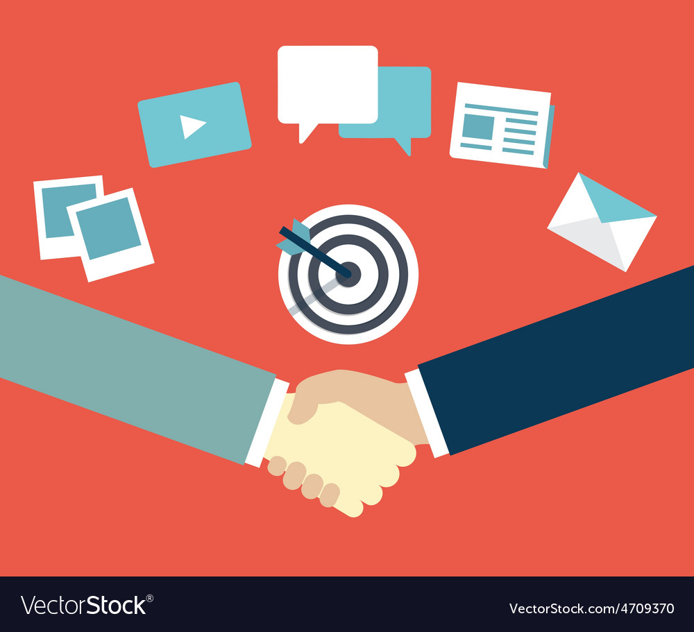 Customer relationship management content marketing vector   Price: 1 Credit (USD $1)