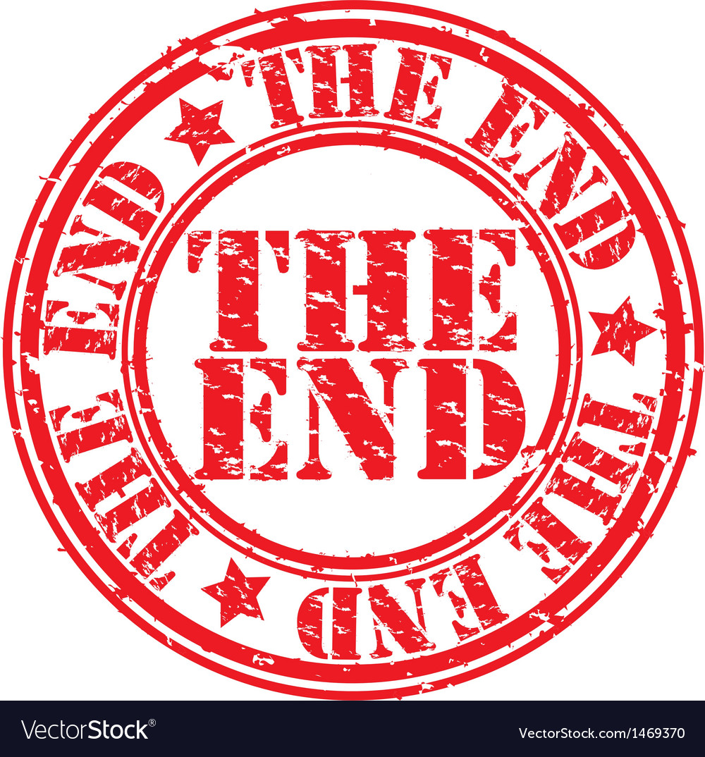 The end stamp vector | Price: 1 Credit (USD $1)