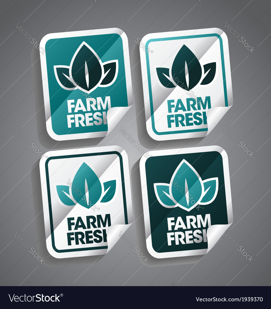 Farm fresh sticker vector | Price: 1 Credit (USD $1)
