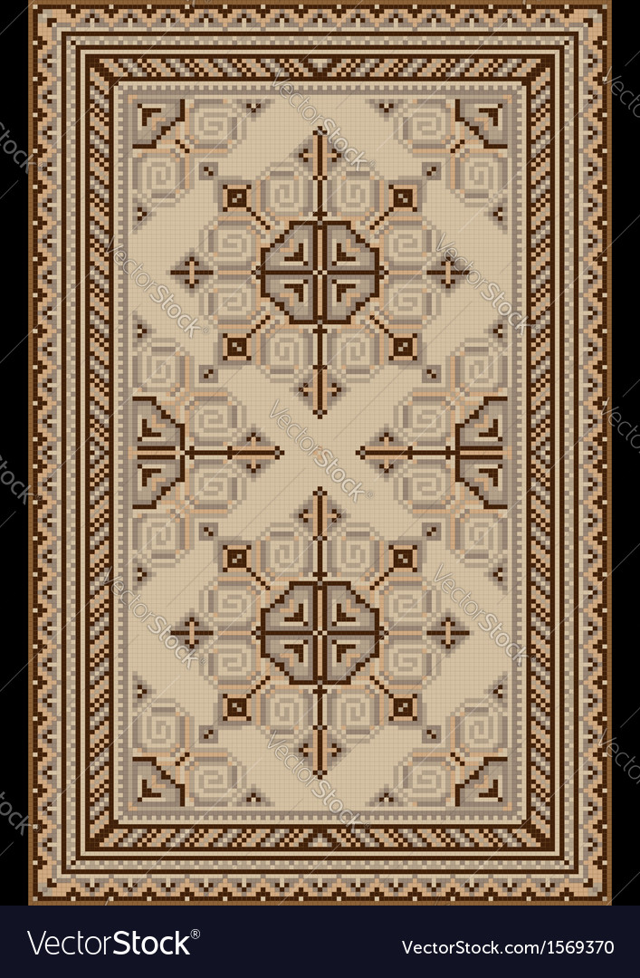 Light carpetwith beige and brown shades vector | Price: 1 Credit (USD $1)