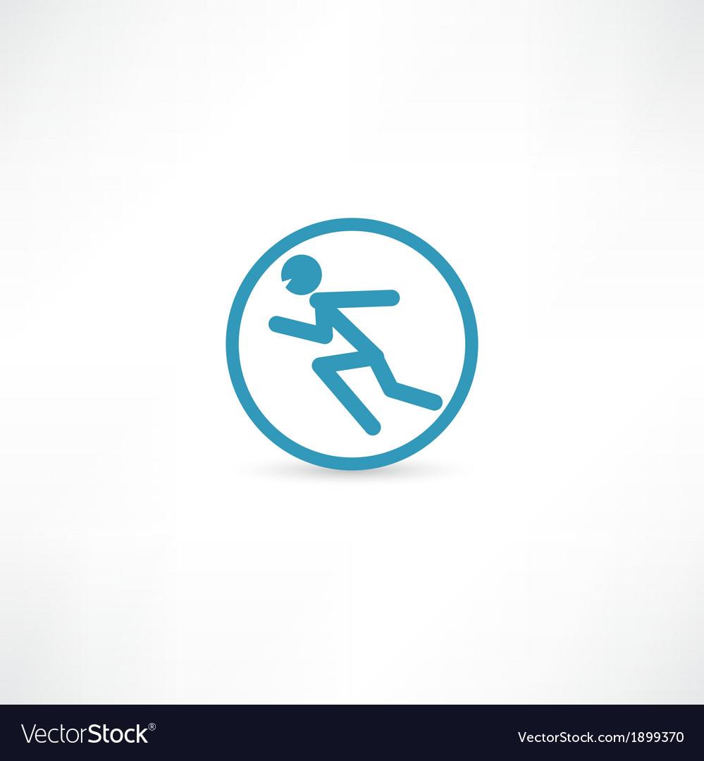 Man running in circle vector | Price: 1 Credit (USD $1)