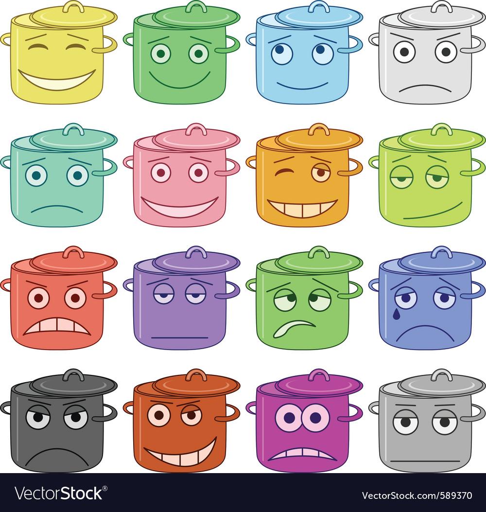 Pans smiles vector | Price: 1 Credit (USD $1)