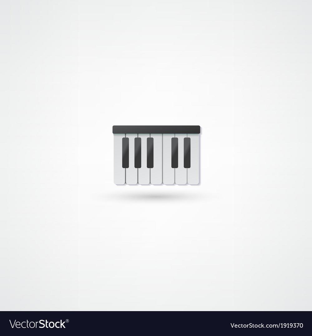 Piano icon vector | Price: 1 Credit (USD $1)