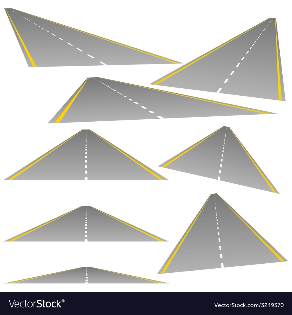 Roud from multiple perspectives vector | Price: 1 Credit (USD $1)