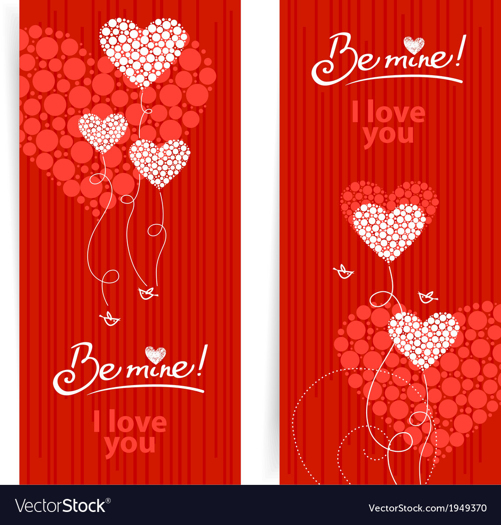 Set of love background with abstract hearts vector | Price: 1 Credit (USD $1)