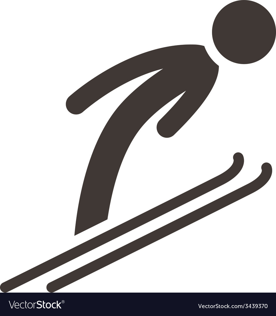 Ski jumping vector | Price: 1 Credit (USD $1)