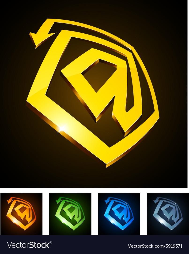 3d vibrant at emblems vector | Price: 1 Credit (USD $1)