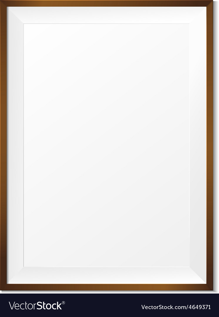 Blank wood photo frame on white background eps10 vector | Price: 1 Credit (USD $1)