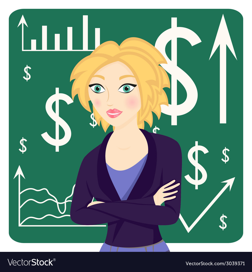 Business woman wearing a suit vector | Price: 1 Credit (USD $1)