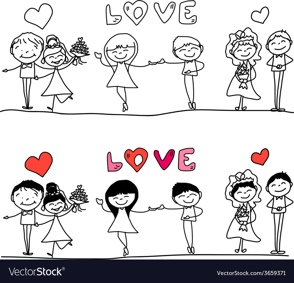 Cartoon hand-drawn love character vector   Price: 1 Credit (USD $1)