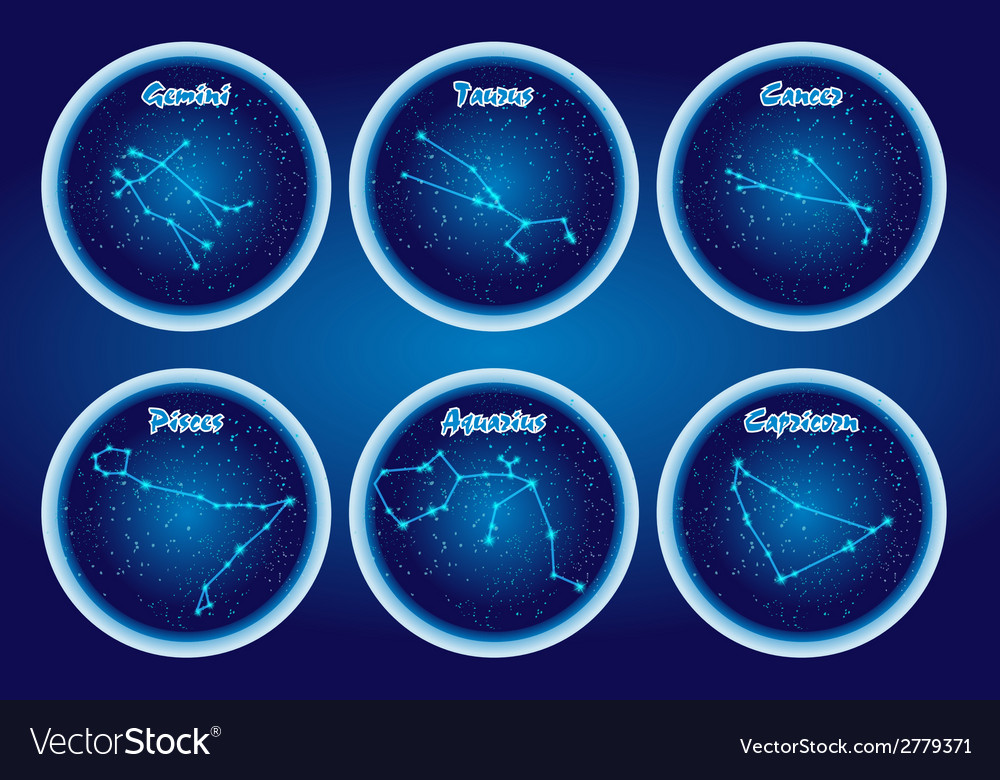The character set of the stars of the zodiac set2 vector | Price: 1 Credit (USD $1)