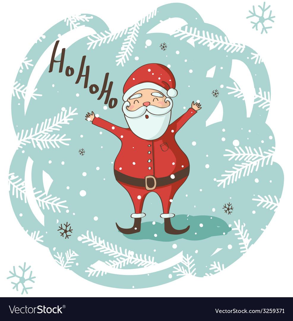 Christmas santa greeting card vector | Price: 1 Credit (USD $1)