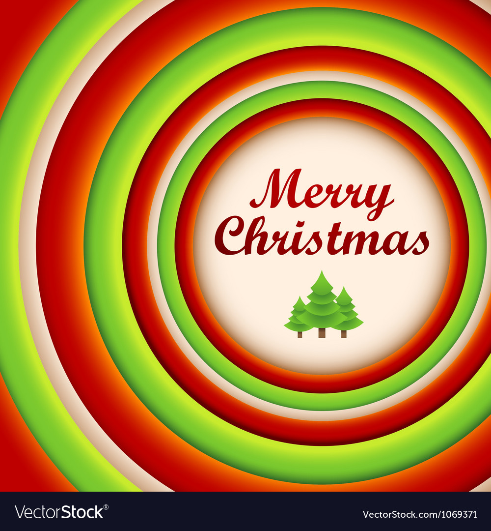 Circle christmas greeting card and background vector | Price: 1 Credit (USD $1)