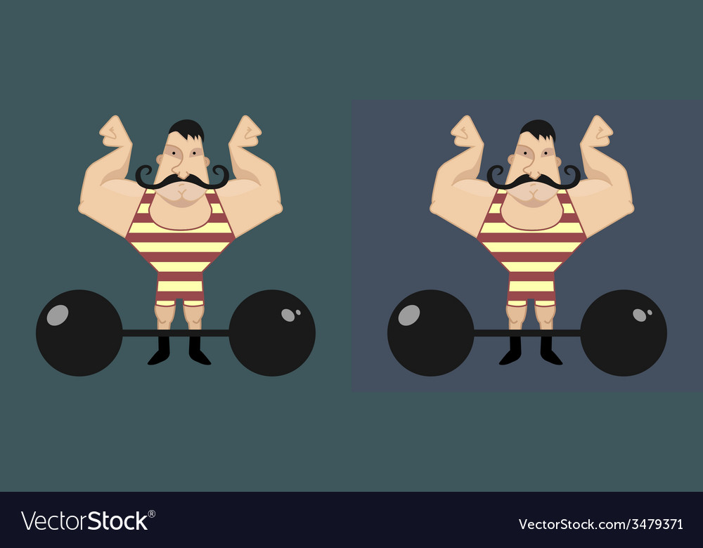 Circus athlete with mustaches vector | Price: 1 Credit (USD $1)