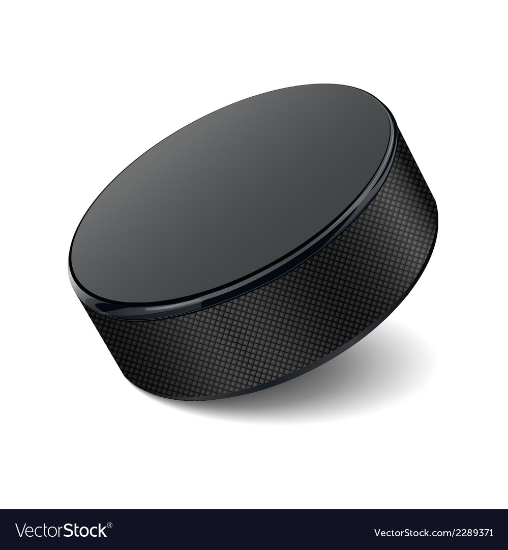 Detailed hockey puck vector | Price: 1 Credit (USD $1)