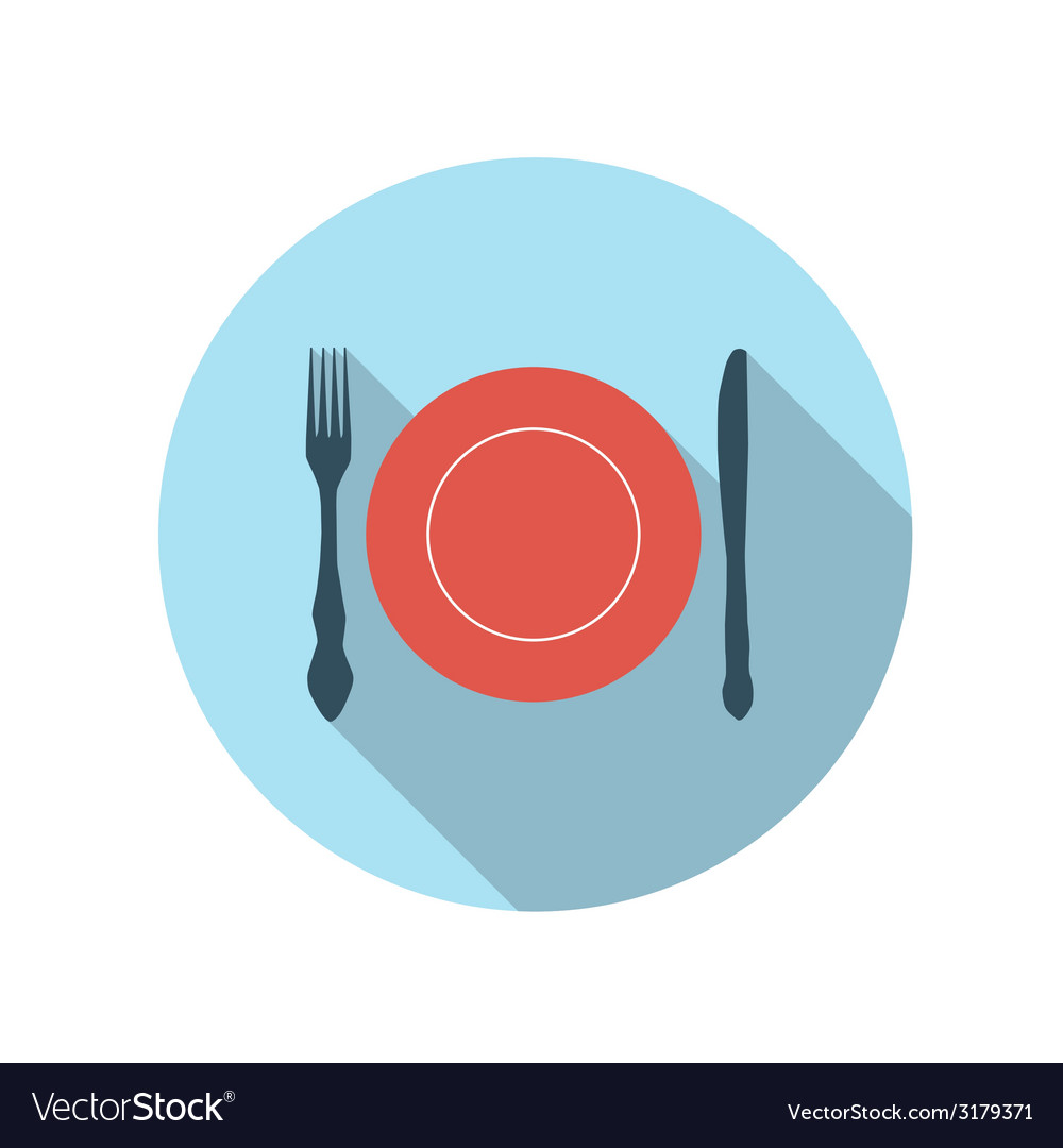 Flat design concept flatware with long shado vector | Price: 1 Credit (USD $1)